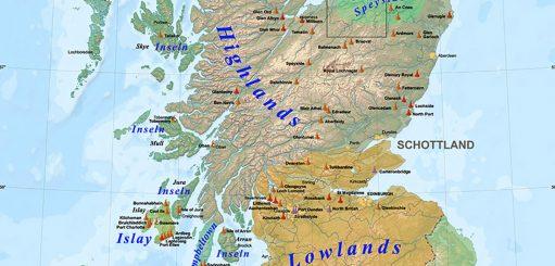 De whiskyregio's van Schotland