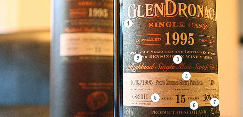 Glendronach whisky etiket