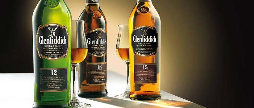 Glenfiddich driehoekige whiskyflessen