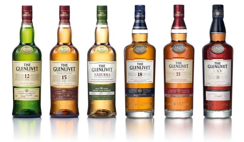 The Glenlivet single malt range