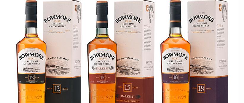 Bowmore whisky range