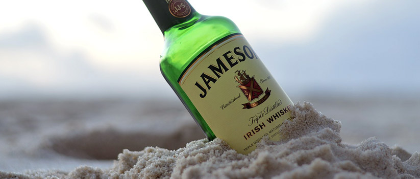Jameson Irish whiskey fles