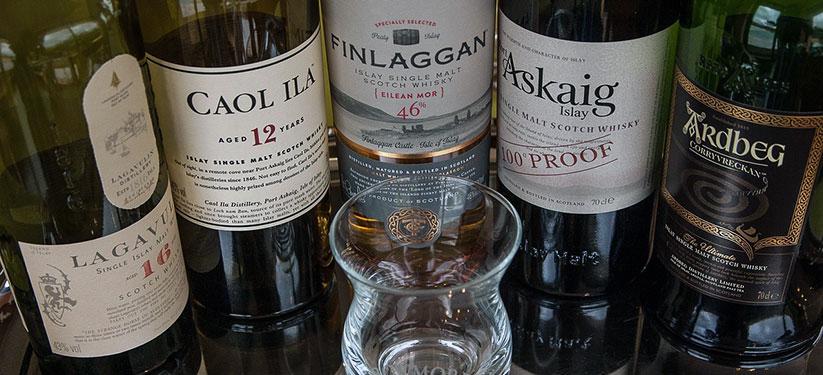 Soorten whisky op eiland Islay