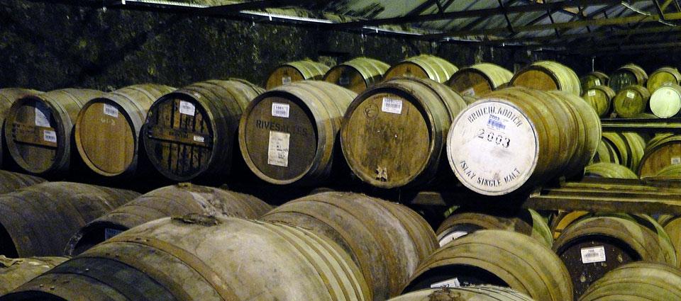 Opslageenheid met whiskyvaten